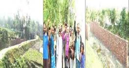 কচুয়ায় সরকারি খালের উপর কালভার্ট নির্মাণ