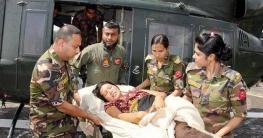 মৃত্যুশয্যায় প্রসূতি, হেলিকপ্টারে হাসপাতালে নিল সেনাবাহিনী