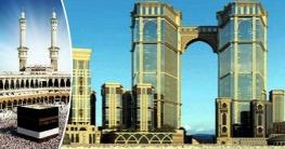 বিশ্বের সবচেয়ে উঁচু ঝুলন্ত মসজিদ কাবার পাশেই নির্মাণ হচ্ছে